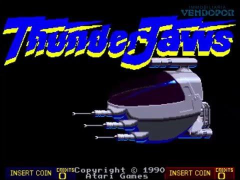 Jugando a Thunder Jaws Atari Games 1990 Arcade CoinOp Juegos Coin-Op Recreativas Gamers Gaming