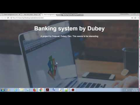 Banking Website In HTML,CSS.