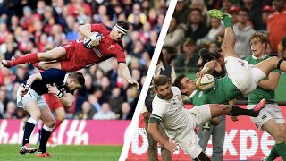 Rugby's WORST Aerial Collisions | Dangerous Hits in Mid Air in Rugby