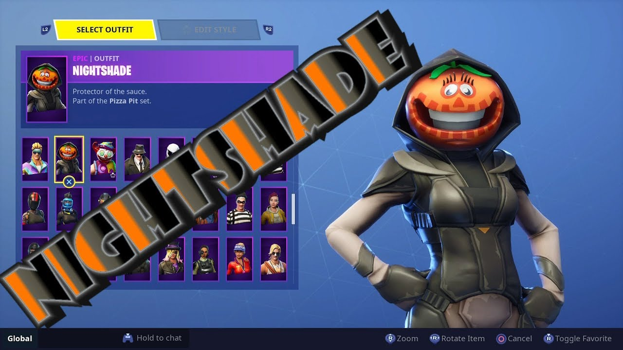 fortnite new season 6 battle pass nightsade skin the new emotes - fortnite new pumpkin skin