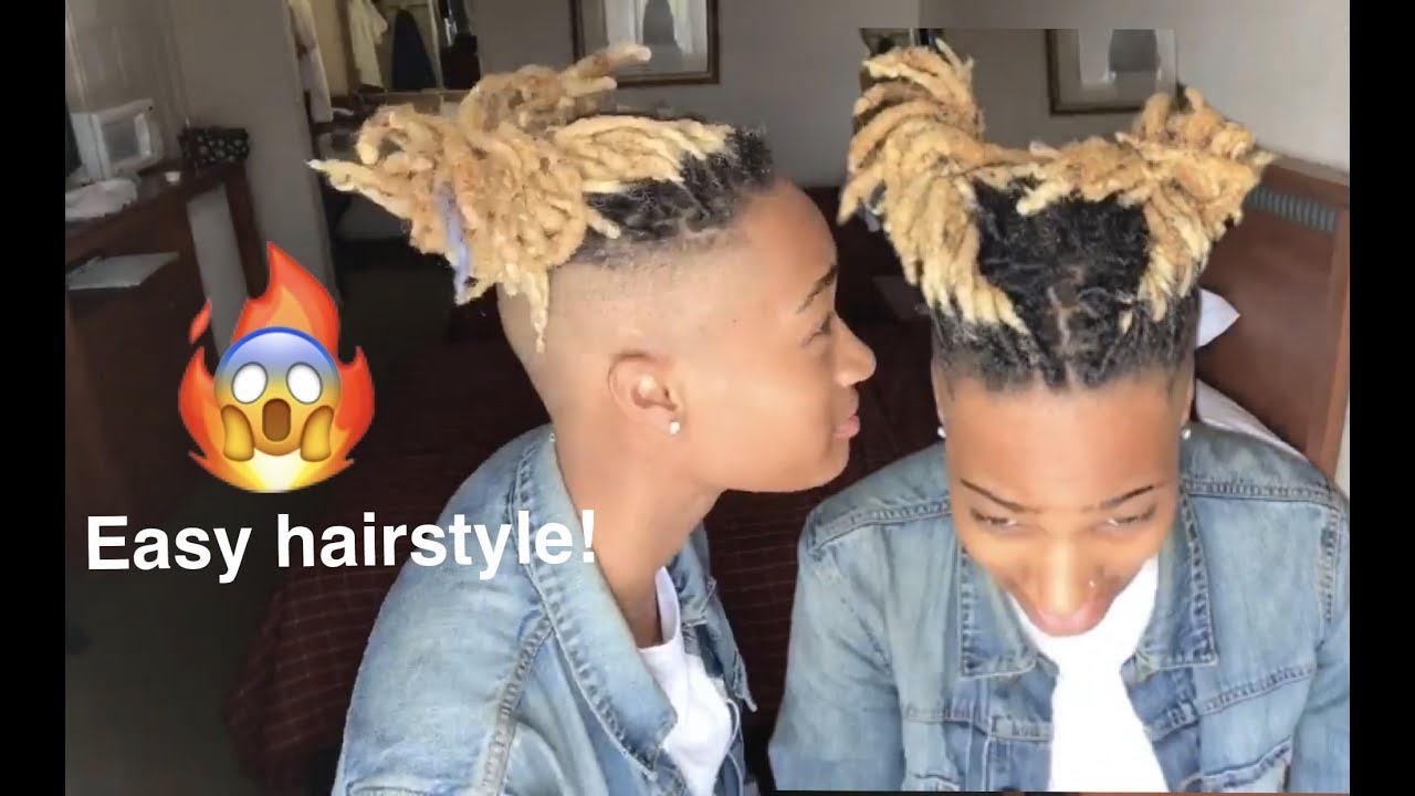 Dreadlock Hairstyle Tutorial Twists Amp Messy Buns Easy