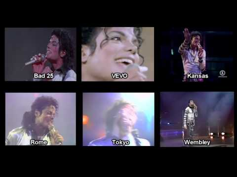 Michael Jackson - Another Part Of Me - Bad Tour Comparison (1988)