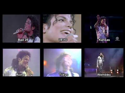 Michael Jackson - Another Part Of Me - Bad Tour Comparison (1988)