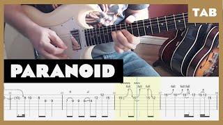 Paranoid Black Sabbath Cover   Guitar Tab   Lesson   Tutorial