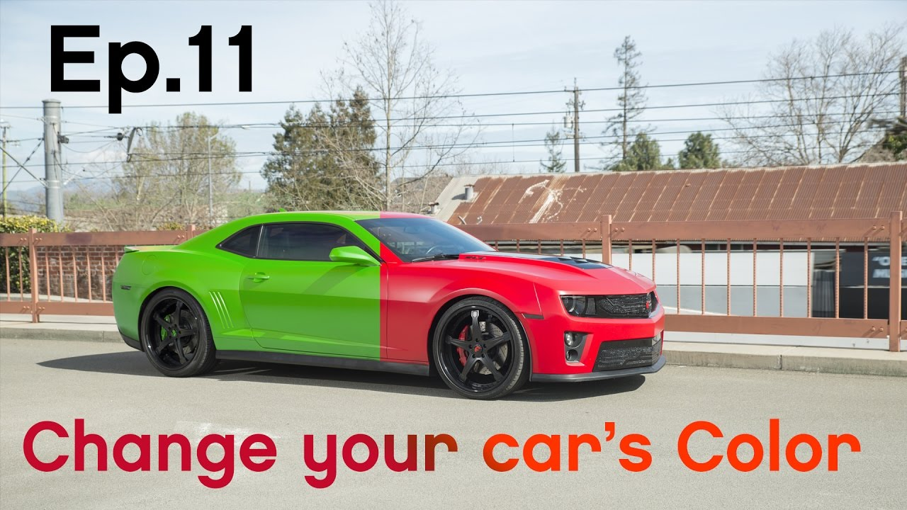 how to change the colour of your car