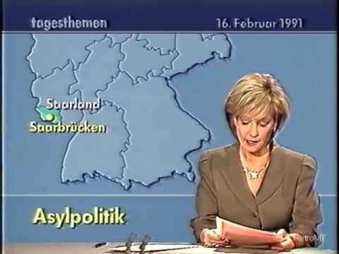 Asylpolitik Tagesthemen ARD 16.2.1991