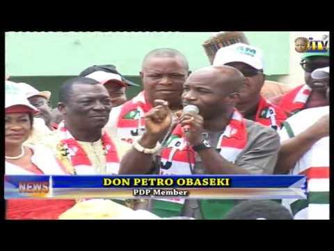 Campaign Train Of Edo PDP Lands In Ikpoba Okha LGA