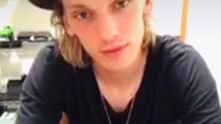 DEALING with an HEARTBREAK - Jamie Campbell Bower and Sam, Counterfeit LIVE Q&A on Instagram. YouTube Videos
