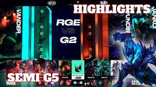 Rogue vs G2 Esports - Game 5 Highlights   Semi Finals S10 LEC Summer 2020   RGE vs G2 G5
