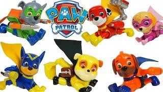 paw patrol super pups superheroes surprise egg chase marshall skye rocky zuma toys sorpresa