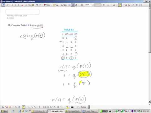 Precalculus--Composition of Functions