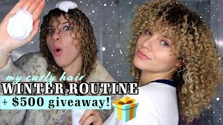 HOW TO STYLE CURLY HAIR IN THE WINTER TO AVOID FRIZZ AND DRYNESS + $500 HOLIDAY GIVEAWAY
