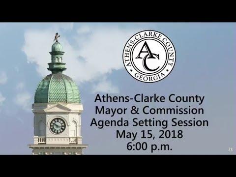 05-15-2018 Agenda Setting Session