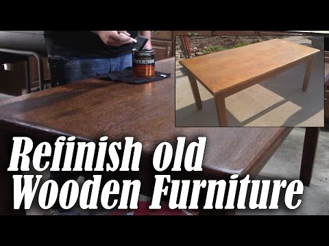 Refinish an Old Wood Table or Desk