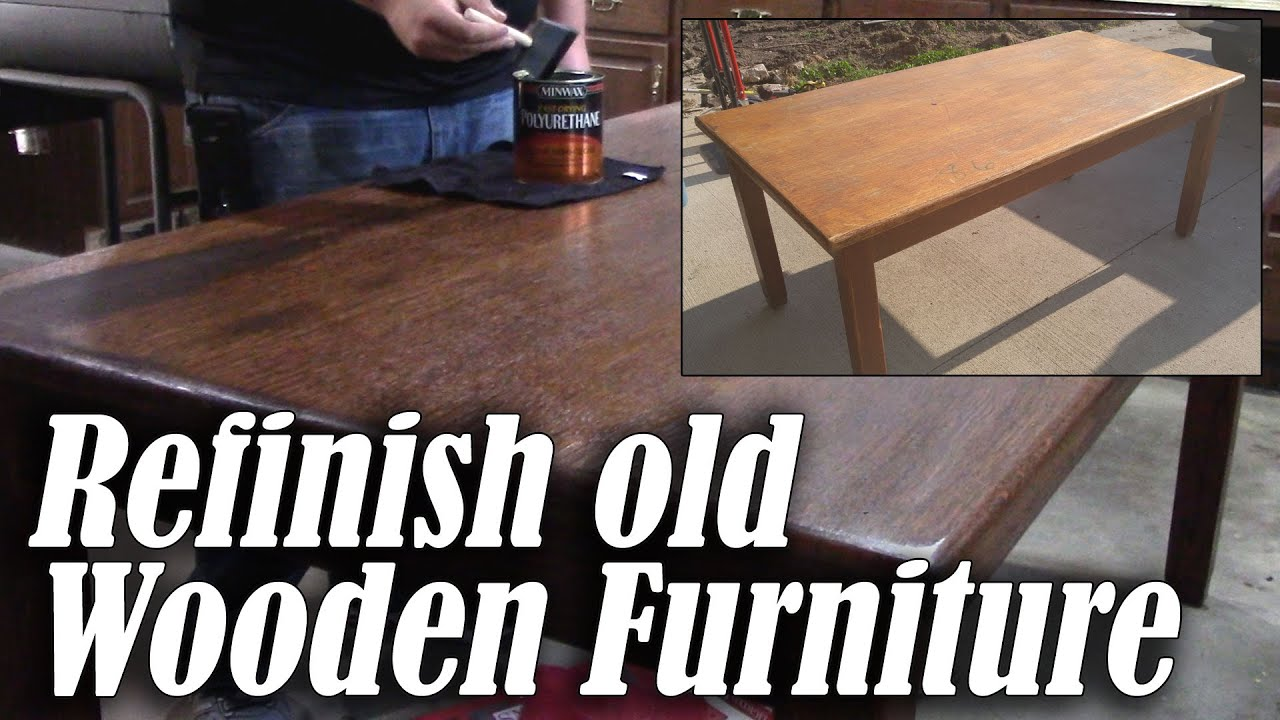 refinish an old wood table or desk - Refinish Table