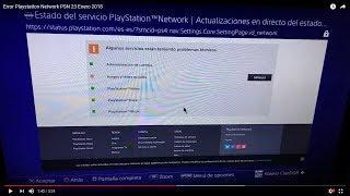 Error Playstation Network PSN 23 Enero 2018