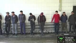 Видео задержания узбекских водителей-нелегалов показала полиция Алматы