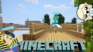 THE BRIDGES FRIDAY - Skylands War with Hannah Carr - Minecraft