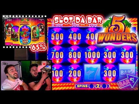 SLOT MACHINE da BAR - Proviamo la 5 WONDERS al 65%