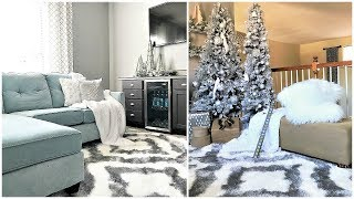 NEW! Christmas Decor| Glam Winter Wonderland Loft Tour