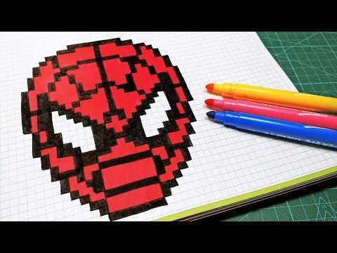 Handmade Pixel Art - How To Draw Spider-Man #pixelart