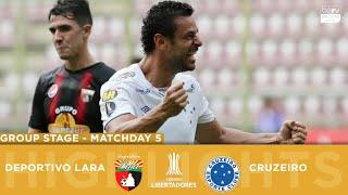 RESUMEN: Deportivo Lara vs. Cruzeiro