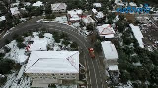 Μαγευτικά πλάνα: Η χιονισμένη Αρτεμισία από ψηλά