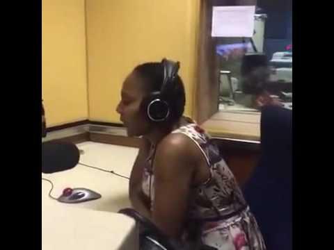 Thenjiwe in studio with Tshatha Ngobe @ Ukhozi FM