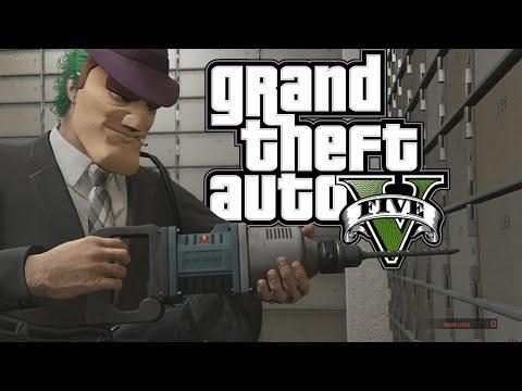 GTA 5 HEIST ONLINE, FLEECA BANK JOB HEIST, HACKING, GTA 5 HEISTS LETS PLAY #1 (Gta 5 Funny Moments)