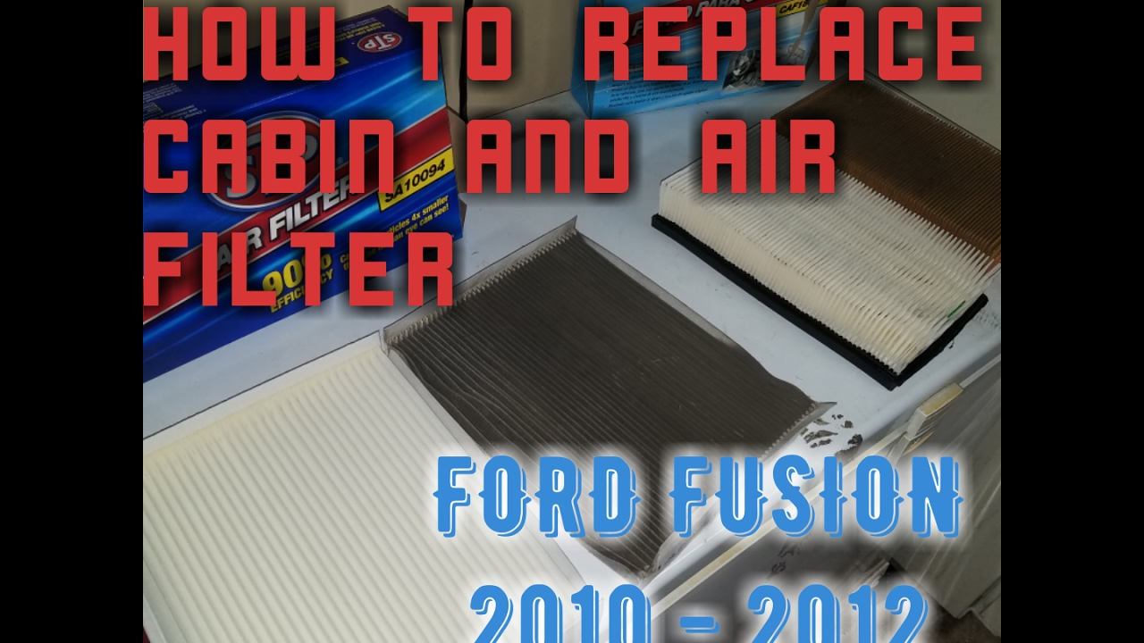 How to replace cabin and air filter ford fusion youtube for What size cabin air filter do i need