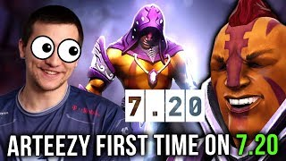 Arteezy WTF?! First Time Trying New Patch 7.20 Imba Anti-Mage TOO OP? - Dota 2