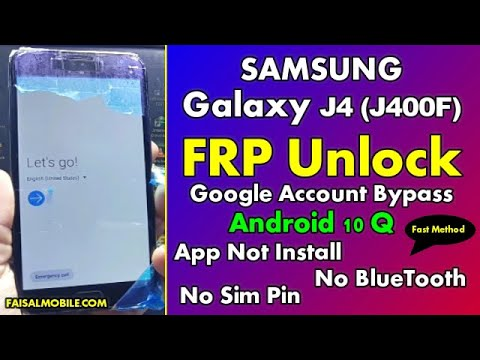 Samsung J4 GOOGLE/FRP BYPASS Android 10 Fast Method 2021 || App Not Installed