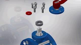 Кран шаровой DN50 PN16 фланцевый/Ball valve with manual actuator DN50 PN16 flanged