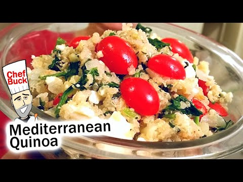 Mediterranean Quinoa Recipe with Basil and Feta