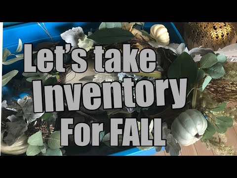 LET'S TAKE INVENTORY FOR FALL HOME DECOR 2018