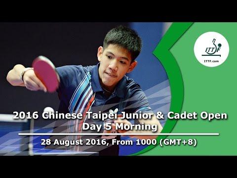 2016 ITTF Chinese Taipei Junior & Cadet Open - Day 5 Morning