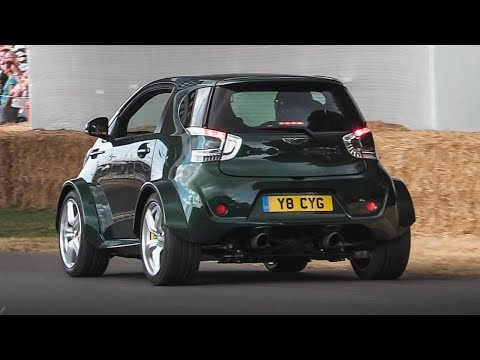 Aston Martin V8 Cygnet Pocket Rocket: A 430bhp Crazy City-Car roaring at Goodwood FoS!