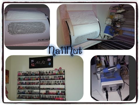 Dust Collector, Polish Racks, Nail Drill , Workstation, Flexi Lamp!