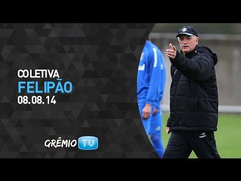 Coletiva Luiz Felipe Scolari - 08/08 | GRÊMIO TV