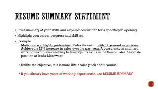 英文履歷- 何時用Resume Objective 跟 Resume Summary