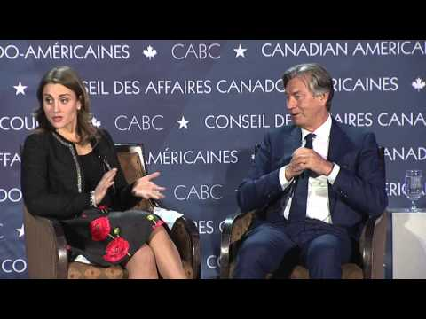 Gary Doer interviewed by Kristina Partsinevelos at 21st State of the Relationship Summit