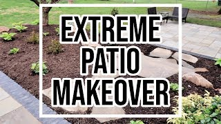 EXTREME PATIO MAKEROVER // BEASTON FAMILY VIBES // PATIO MAKEOVER TOUR spring decor