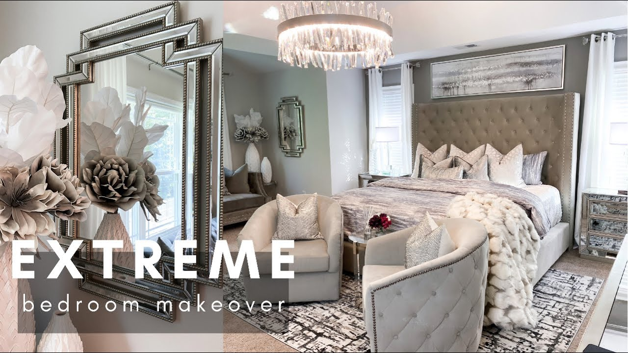 EXTREME Bedroom Makeover | DIY Wall Decor | aesthetic bedroom transformation