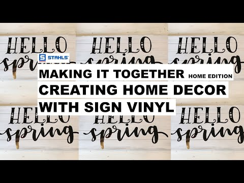 How To Decorate Wood Sign With Sign Vinyl | Creating Home Decor | Making It Together Home Edition