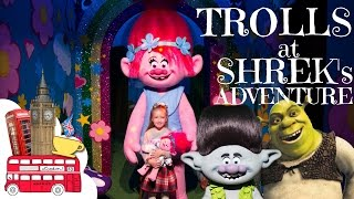 Poppy and Branch Trolls at Shrek