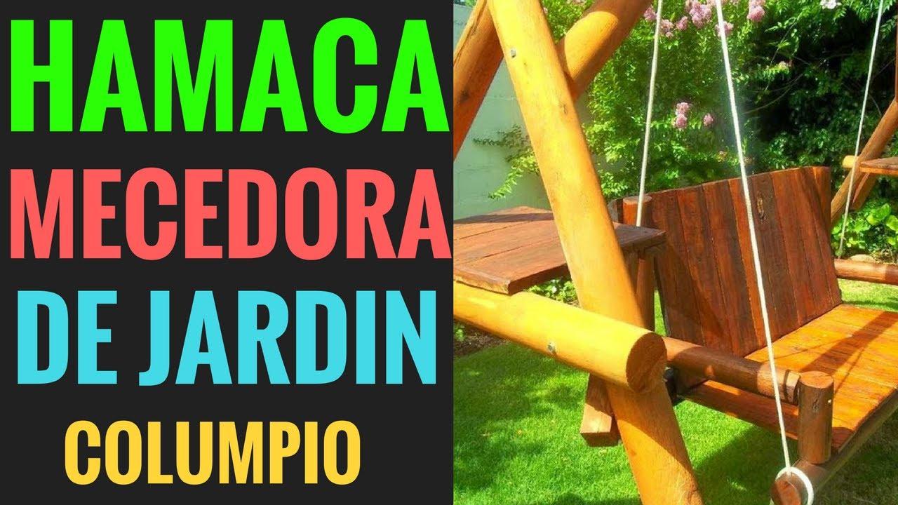 Ideas hamaca mecedora de madera para jard n con mesa de for Mecedoras para jardin