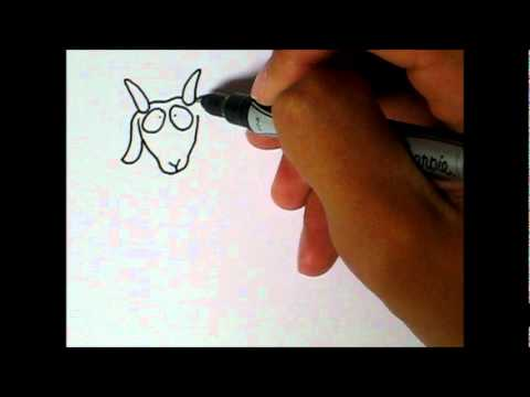 simple art style how to draw a goat