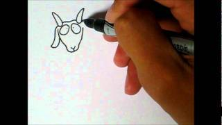 Simple Art Style - How to draw a Goat