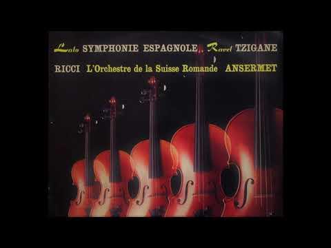 Lalo Symphony Espagnole Ruggiero Ricci Ernest Ansermet 1960 Vinyl LP
