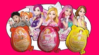 지환이와 시크릿쥬쥬 서프라이즈 에그 Let's open the surprise egg and sing a color song.